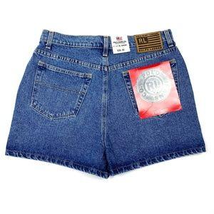 Vtg POLO Ralph Lauren High Waist Denim Shorts